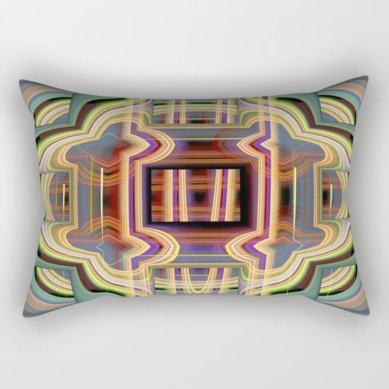 Behind the windows Rectangular Pillow