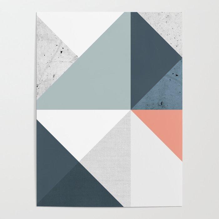 Modern Geometric 12 Poster