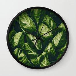 Greenery Pattern (Color) Wall Clock