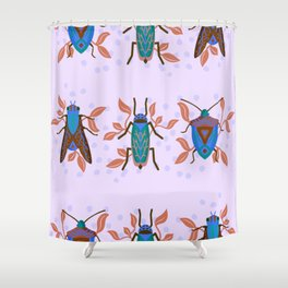 Decorative Bug Garden Shower Curtain