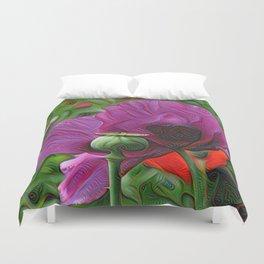 DeepDream Flowers, Poppy, DeepDream style Duvet Cover