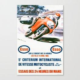 Criterium International De Vitesse - Vintage 1965 le Mans Poster Canvas Print