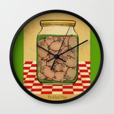 Pickled Pig Revisited Wall Clock