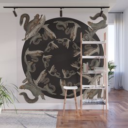 Squirrel squares the circle Wall Mural