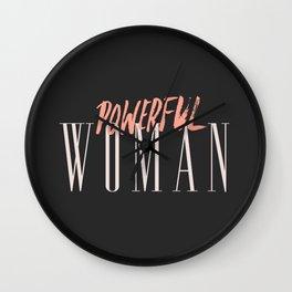 POWERFUL WOMAN Wall Clock