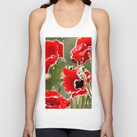poppies Tank Tops featuring Poppies by Regan's World