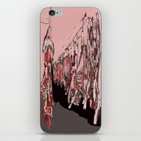 meat iPhone & iPod Skins featuring Meat by Robert Morris