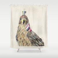 hawk Shower Curtains featuring the hawk by bri.buckley