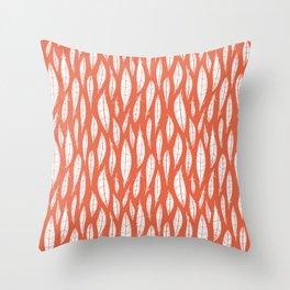 Quail Feathers (Poppy) Throw Pillow