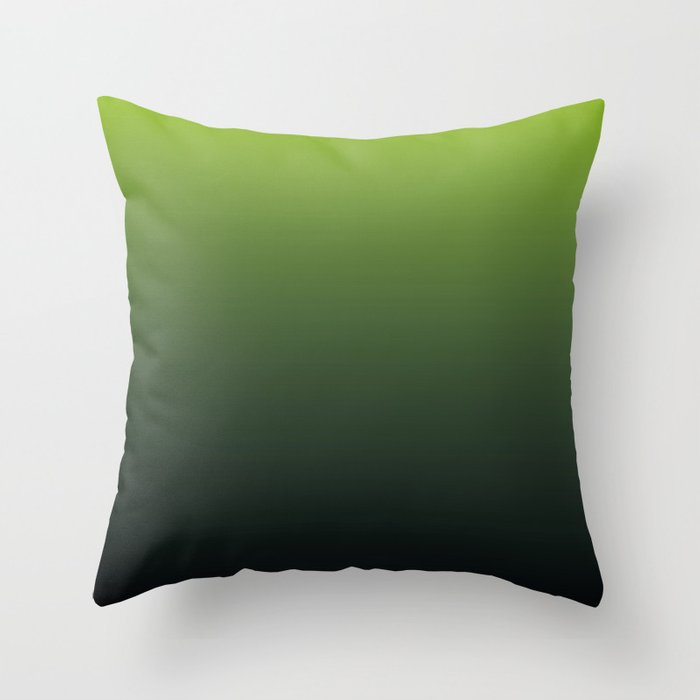 Ombre | Lime Green and Charcoal Grey Throw Pillow