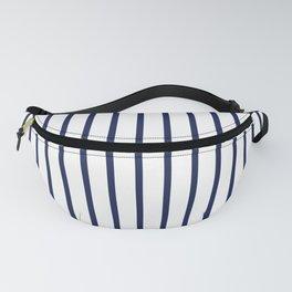 Vertical Navy Blue Stripes Pattern Fanny Pack