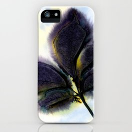 Dark Leaves iPhone Case