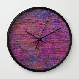 23-02-45 (Pink Lady Glitch) Wall Clock