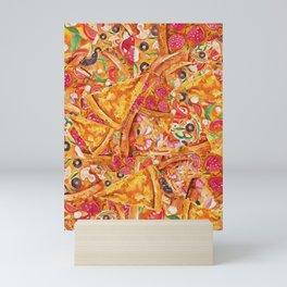 All About Pizza Mini Art Print