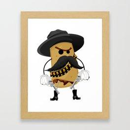 El Beano, El Malo, El Feo. Framed Art Print