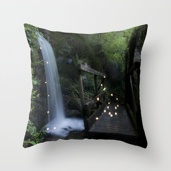 Firefly Outside Throw Pillow
