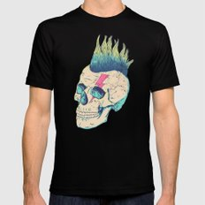 Skull Punk LARGE Mens Fitted Tee Black