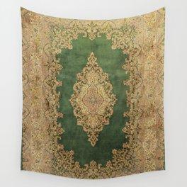 Vintage Persian Kerman Rug Wall Tapestry