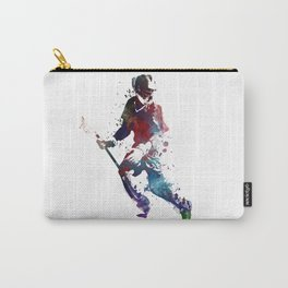 Lacrosse player art 3 Carry-All Pouch