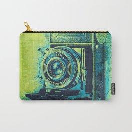 Green Retro Vintage Kodak Camera Carry-All Pouch