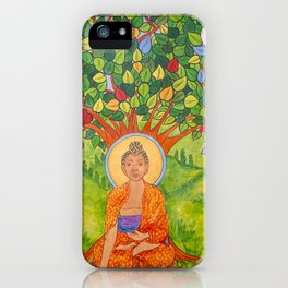 BUDDHA MURAL SM iPhone Case