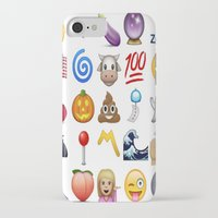 emoji iPhone & iPod Cases featuring Emoji  by rivercbishop