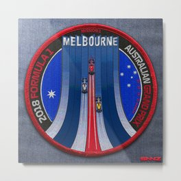 Mission Patch #1 / 2018 Formula 1 Australian Grand Prix Metal Print