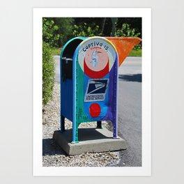 Captiva Island Mailbox- vertical Art Print