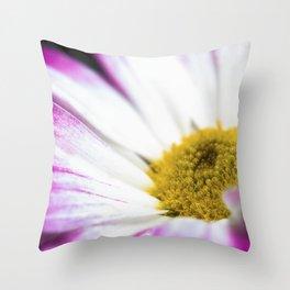 Soft focus Flower Throw Pillow