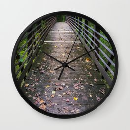 Bridge Crossing on The Chattooga River Trail Wall Clock
