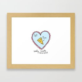 Sgt. Pizza Lonely Hearts Club Band Framed Art Print