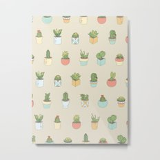 Cute Succulents Metal Print