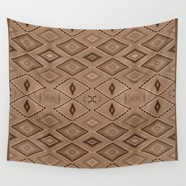Abstract Pattern inspired by Navajo Weaving in Earthtones Wall Tapestry