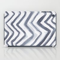 water colour iPad Cases featuring Black Water Colour Chevrons by Stephen John Bryde