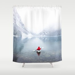 Kayaking Across A Canadian Lake Shower Curtain