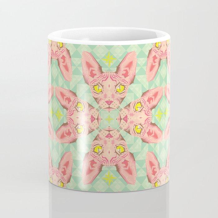 Sphynx Cat Pattern Coffee Mug
