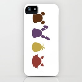 a bear, bunny, chick and a fox iPhone Case