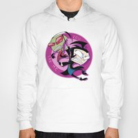 invader zim Hoodies featuring Invader Zim You Irk Me by squ1dp0ny