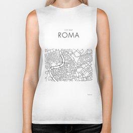 Roma - City Map - Daniele Drigo Biker Tank