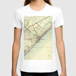 Vintage Map of Myrtle Beach South Carolina (1940) T-shirt