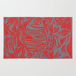 Fish in red Rug
