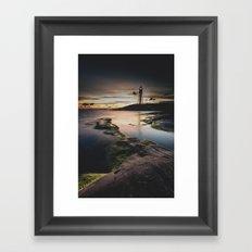 I walk the line Framed Art Print