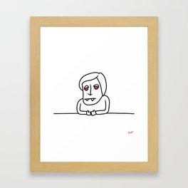I want to work in the media Framed Art Print