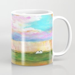 April Showers, Abstract Landscape Coffee Mug