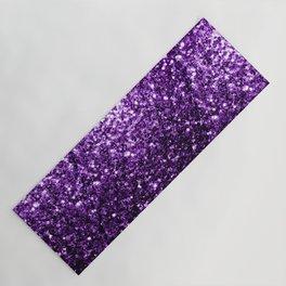 Beautiful Dark Purple glitter sparkles Yoga Mat