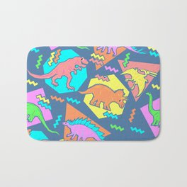Nineties Dinosaur Pattern Bath Mat