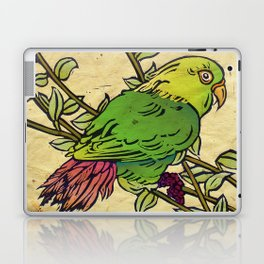 Parrot Linocut Laptop & iPad Skin