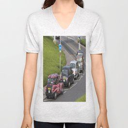 London Taxis Heathrow Airport Unisex V-Neck
