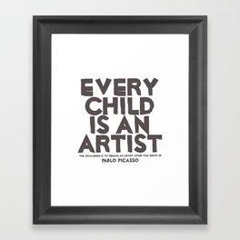 Artist - Quotable Series Framed Art Print