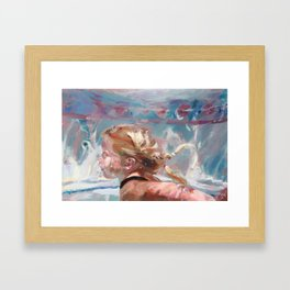 Jami Swimming II Framed Art Print